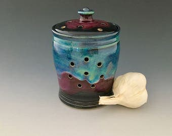 Garlic Keeper Jar by NorthWind Pottery works well for shallots, too!