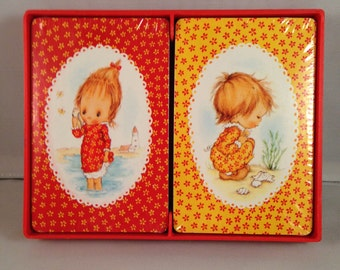 "Playing Cards: Hallmark  ""Betsy Clark - Girls on the Beach"""