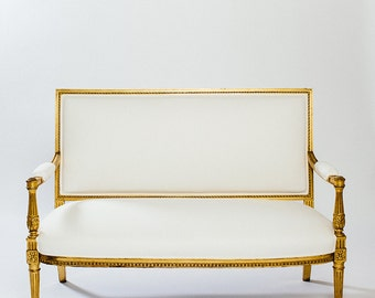 French Gold Settee
