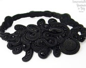 "Soutache Choker , soutache necklace, soutache collar for black lover outfit ""Must have"""