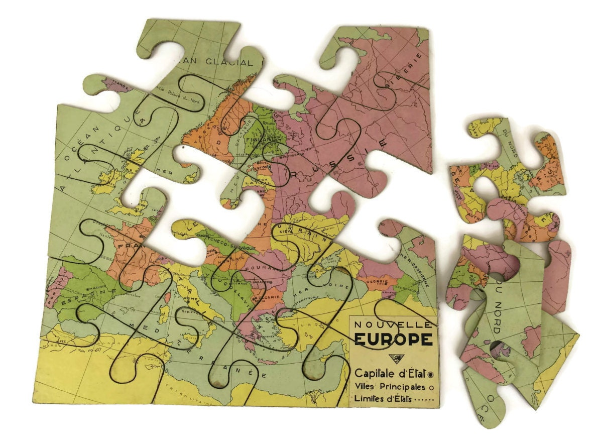 French vintage world map jigsaw puzzle map of europe wooden puzzle gumiabroncs Image collections