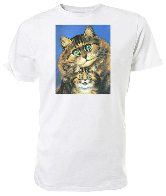 Louis Wain smiling Cats T shirt. classic round neck short sleeved choice of sizes and colours,