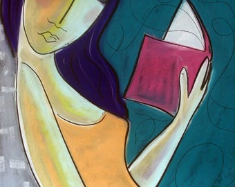 Relax and read a book - Limited  Edition Print  -  by artist Samantha Thompson