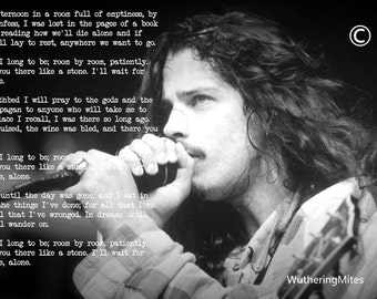 Chris Cornell - Like A Stone Lyrics Print