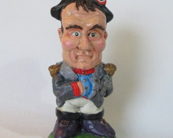 Napoleon Bonaparte Caricature Garden Gnome, limited availability, made in Cornwall (Boxed item)