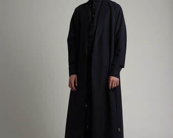 Mens coat Mens long coat Mens black coat Mens silk coat Mens dress coat Winter coat Tailored coat Mens overcoat Minimalist clothing raincoat
