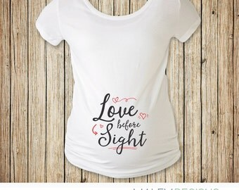 Valentines Day Maternity Shirt, Maternity Shirt Valentineu0027s Day, Love  Before Sight, Valentines Maternity