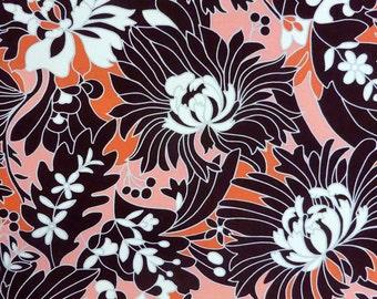 Brownish-orange patterned fabric