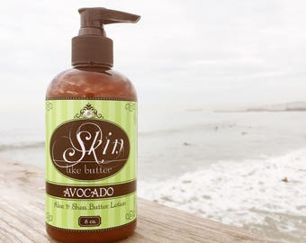 Vegan Body Lotion // AVOCADO // Thick like body butter // Available in an 8 oz bottle or jar // non-greasy // great gift