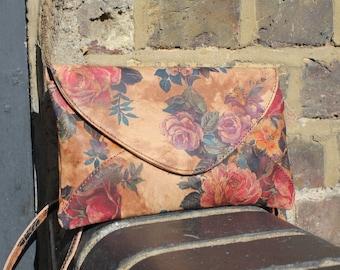 Sligo Clutch Floral 14 Printed Leather
