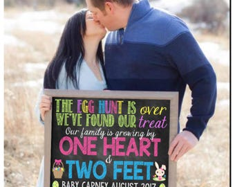 Custom Printable Easter Pregnancy Announcement // Pregnancy Reveal