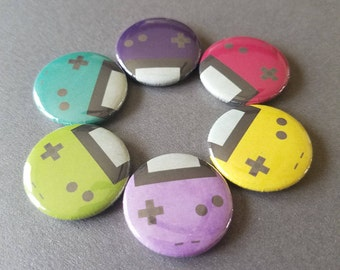 Gameboy Color pinback badge button pin magnet