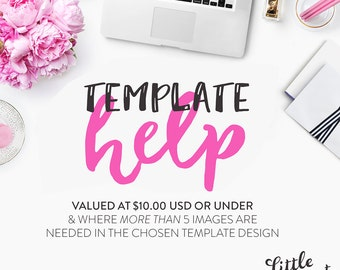 Photoshop Template Customisation on our listings valued at 10.00 USD or under (and where MORE THAN 5 images are needed)