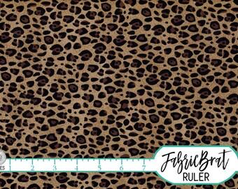 CHEETAH Fabric by the Yard, Fat Quarter Brown & Black CHEETAH SKIN Fabric 100% Cotton Fabric Quilting Fabric Apparel Fabric Yardage a2-8