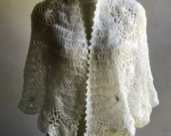 White Shawl/ Wedding shaw / Bridal shawl, Wedding accessories, Bridal accessories, Wedding wrap,