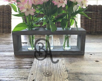 Rustic Vase Box with Vases