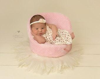 Newborn Romper, Newborn Headband, Newborn Photo Prop, Newborn Props, Newborn Romper Lace, Photo Outfit, Photo Props, Photography Prop