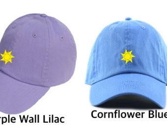 Tangled Hat, Rapunzel Hat, Disney hat, Disney Dad hat, Tangled Sun, Punzie dad hat, Light Purple Tangled Hat, Disney World, Disneyland