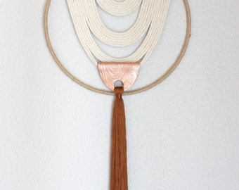 """Macrame Wall Hanging """"Energy Flow no.50"""" by HIMO ART, One of a kind Handcrafted Macrame/Rope art"""