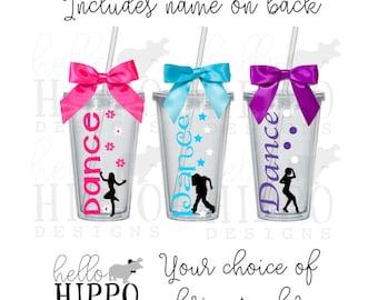 Personalized Dancer Tumbler /HipHop/Jazz/Tap Dancer Gift/Personalized Cup for Dancer/ Dancing Coach/Dancing Team Gift
