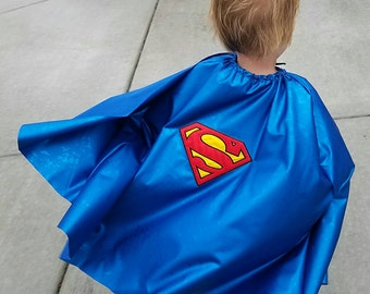 SuperMan Cape for baby boy girls toddlers, kids childs super hero cape for photoshoots, superman cosplay cape superman baby toddler costume