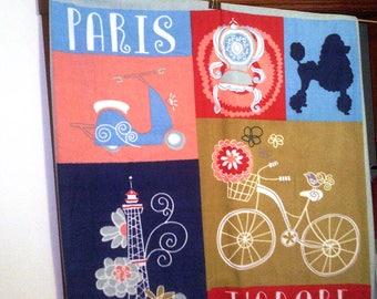 LARGE Eiffel Tower Paris France Fleece Blanket