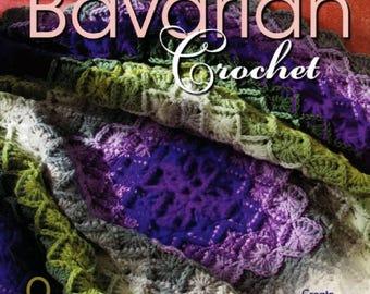 Bavarian Crochet  PATTERNS Magazine, nice 9 crochet projects, learn to do bavarian crochet PDF patterns