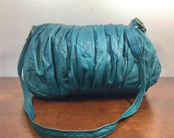 Californian, Emerald Green Leather Purse, Soft Leather, Bag, Shoulder Bag