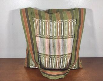 Green Tapestry Purse, Boho Bag, Shoulder Bag