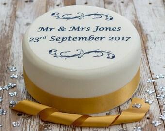 Wedding Cake Topper - personalised edible sugar cake decoration