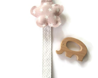 Clip Pacifier-Baby Pacifier Forceps-Chupetero-tweezer-clip-Star Pacifier Clip-Personalized gift-Handmade