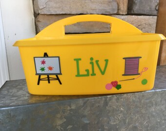 Personalized Craft Caddy; Arts and Crafts Caddy