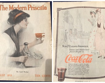 1915 The Modern Priscilla Magazine - Craft Patterns and Articles
