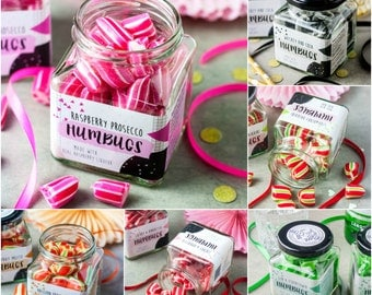 Any TWO Boozy Humbug Jars - Gift for Her - Party Favour - Food Gift - Foodie - Wedding Favour - Valentines - Sweets