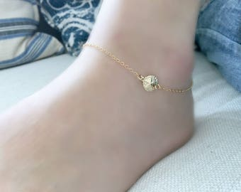 sand dollar anklet starfish anklet  sand dollar bracelet starfish bracelet beach wedding bridesmaids jewelry summer jewelry 14k gold filled
