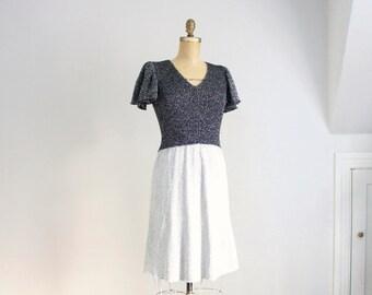 70s Adolfo metallic wool knit dress