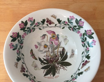 Vintage Portmeirion Hellebore or Lenten Rose Large Botanic Garden Bowl