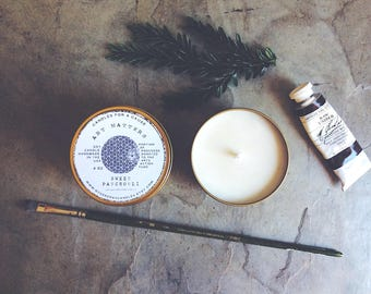 Art Matters: Candles for a Cause - Sweet Patchouli Candle   Percentage of Profits Donated to Arts Action Fund