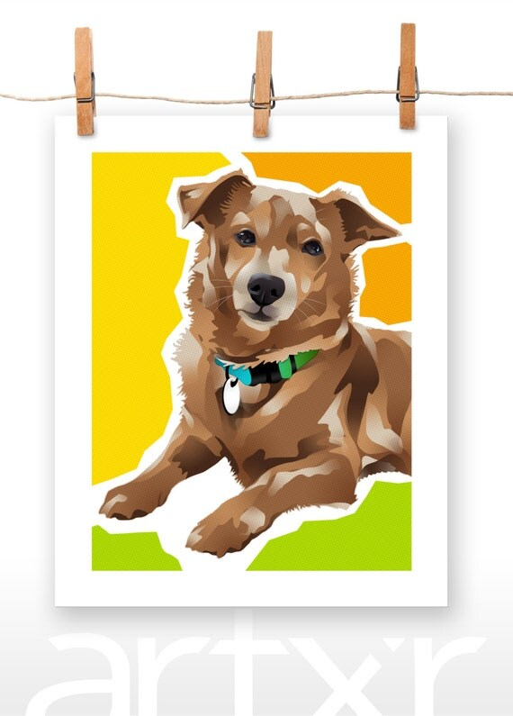 KIDDY / The PET PROJECT / Dachshund Terrier Mix / Fine Art Print / Various Sizes