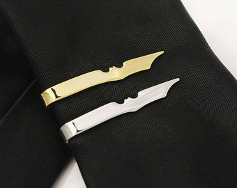 Batman Tie Clip, Stainless Steel The Dark Knight, Geekery, Bat Tie Clip, Comics Tie Clip, Superhero Tie Clip, Superhero Gift, Geek Tie Clip