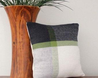Pillow, Woven Pillow, Throw Pillow Cover, Pillow Case, Handwoven Pillow, Weaving, Modern Decor, Decorative Pillow Cover 12x12, Kilim