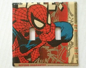 Spiderman light switch cover, double