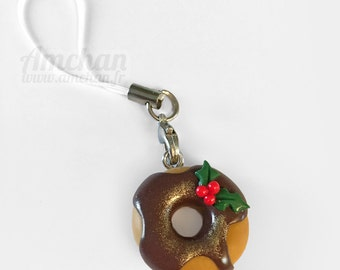 Christmas chocolate donut strap