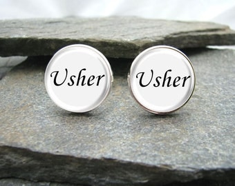 Usher Cufflinks, personalized cufflinks