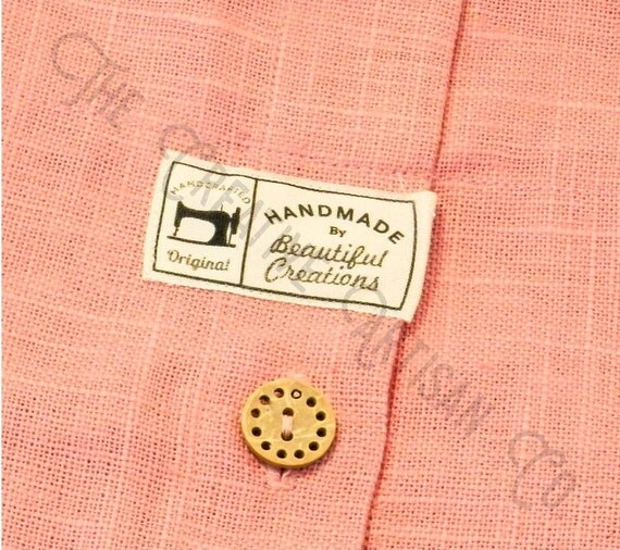 handmade labels for sewing 18 custom handmade sewing machine cotton fabric labels 7697