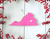 Virginia Ornament. Virginia Christmas Gift. Custom Wood State Ornament.Personalized Virginia State Ornament.Stocking Stuffer. Gifts Under 25
