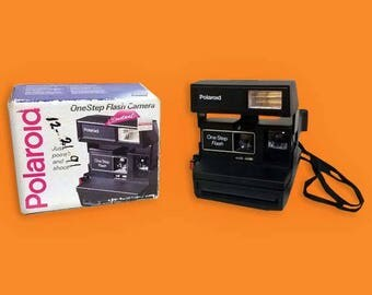 Vintage Polaroid One Step Flash Camera In Original Box