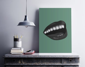 Smile graphic art print - smile digital print - happiness graphic art print - wall decoration - perfect gift idea