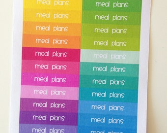 Planner Stickers - Header Stickers Meal Plans