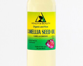 4 oz CAMELLIA SEED OIL Organic Carrier Cold Pressed 100% Pure